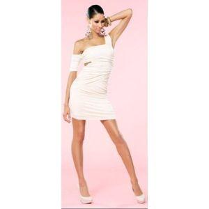 Nude Bebe Kardashian Collection dress